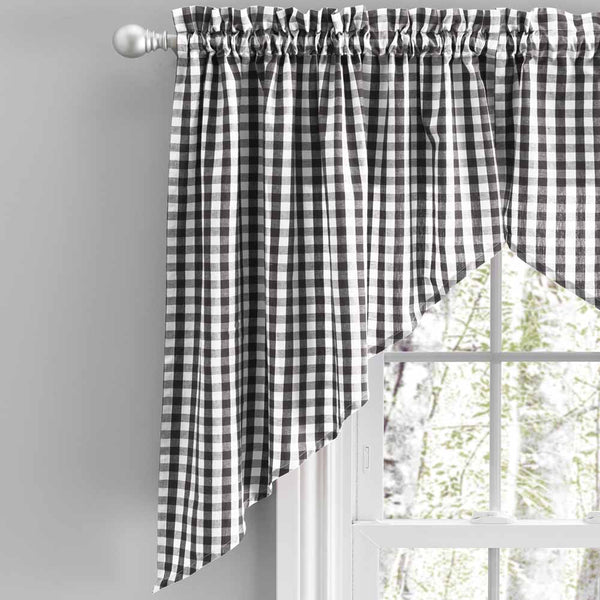 Checkmate Kitchen Tier Curtains, Swags and Valance