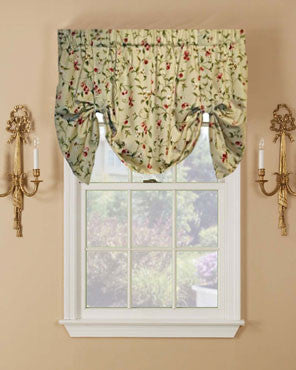 Ellis Curtain Cherries Lined Tie-Up Valance