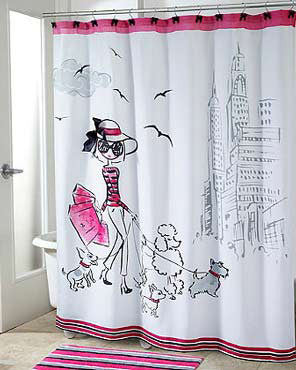 Chloe Fabric Shower Curtain
