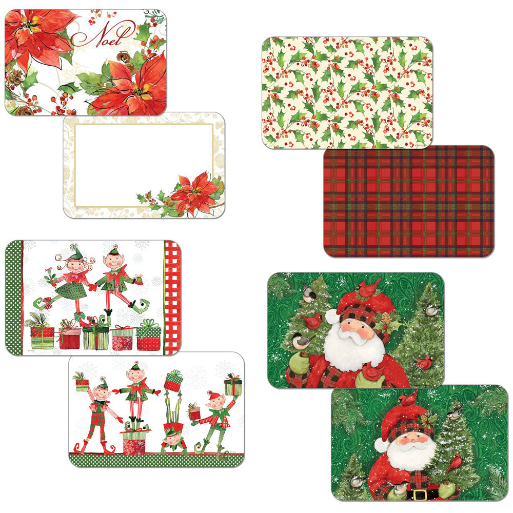 Christmas Reversible Plastic Placemats
