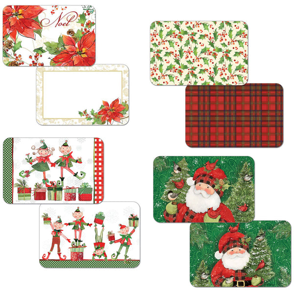 Assortment Christmas Reversible Plastic Placemats