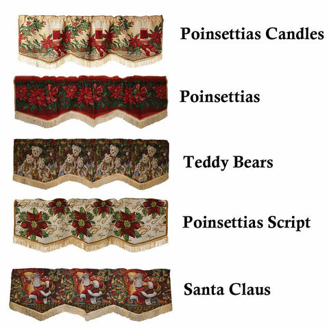 Christmas Tapestry Window Valance