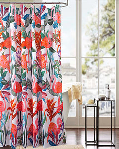 Flaming Fabric Shower Curtain