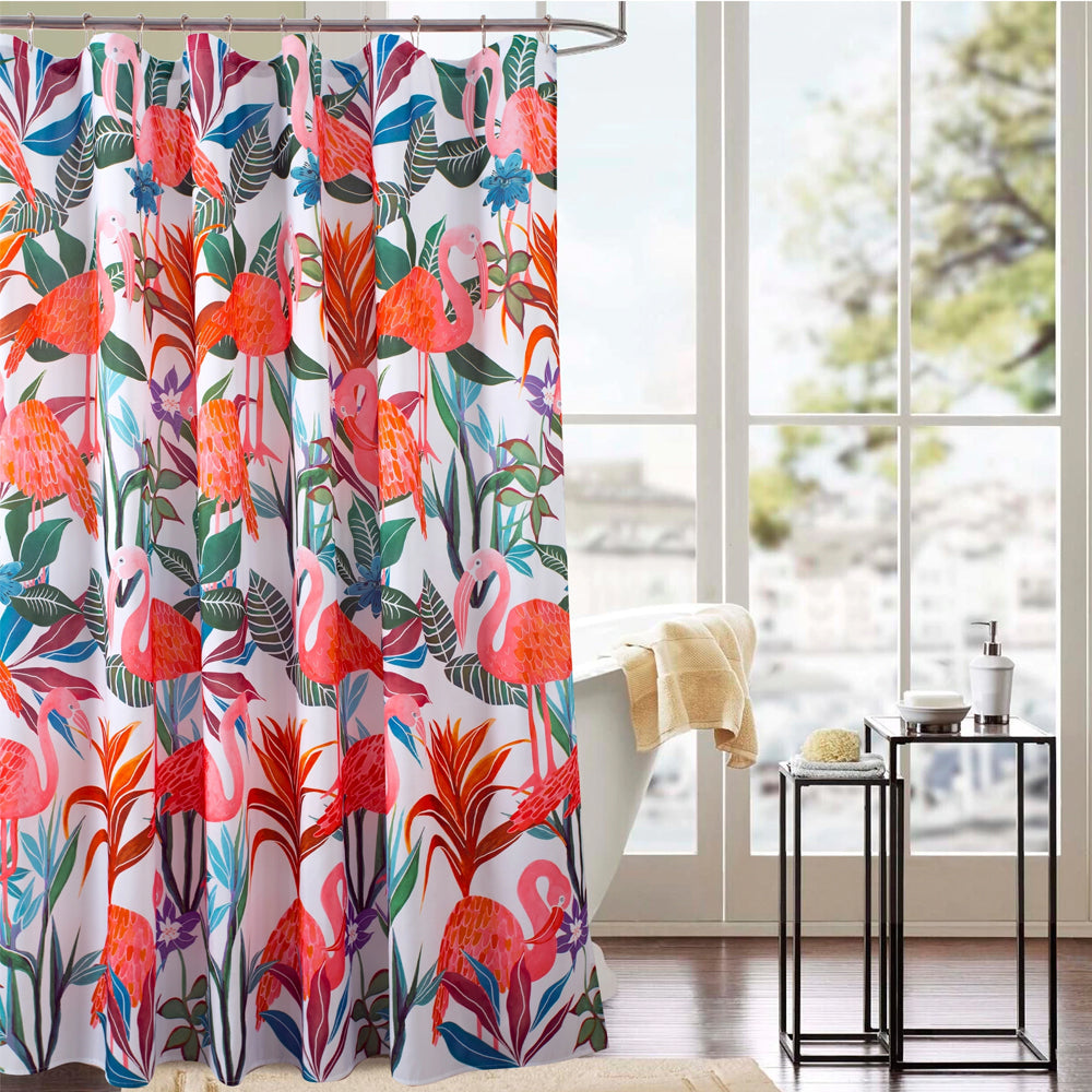 Flamingo Fabric Shower Curtain