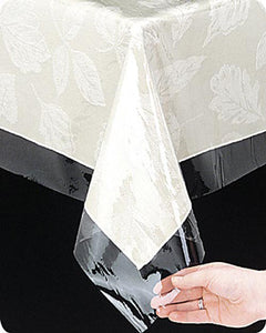 Clear Vinyl Tablecloth Protector