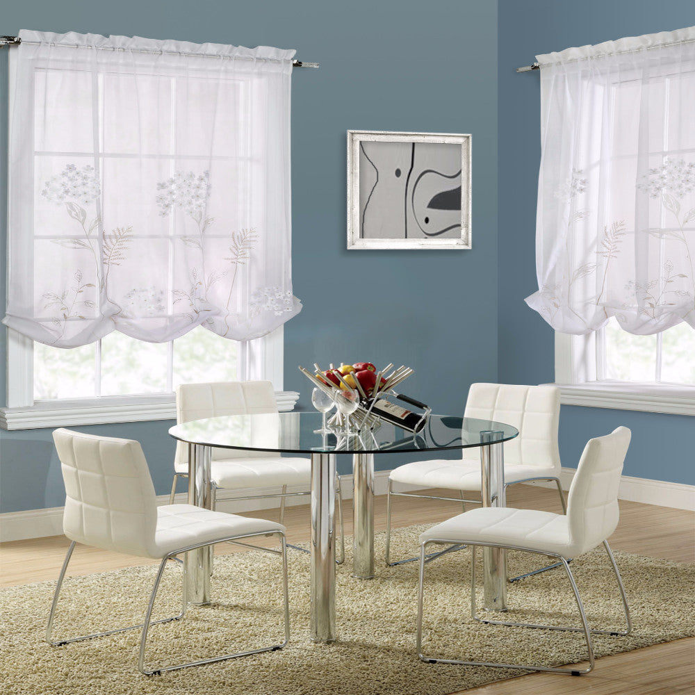 ... Hydrangea Balloon Curtain White Zoom