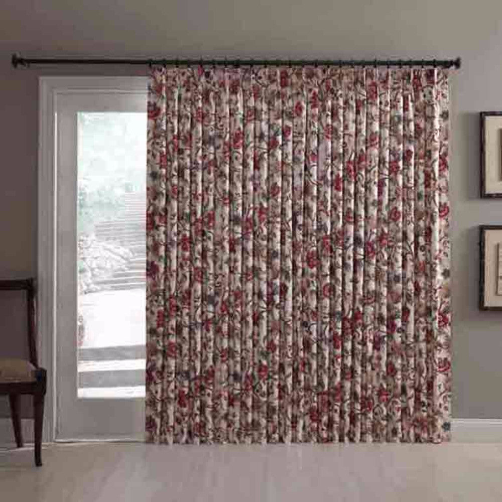 Cornwall Jacobean Floral Thermal Pinch Pleated Patio Panel
