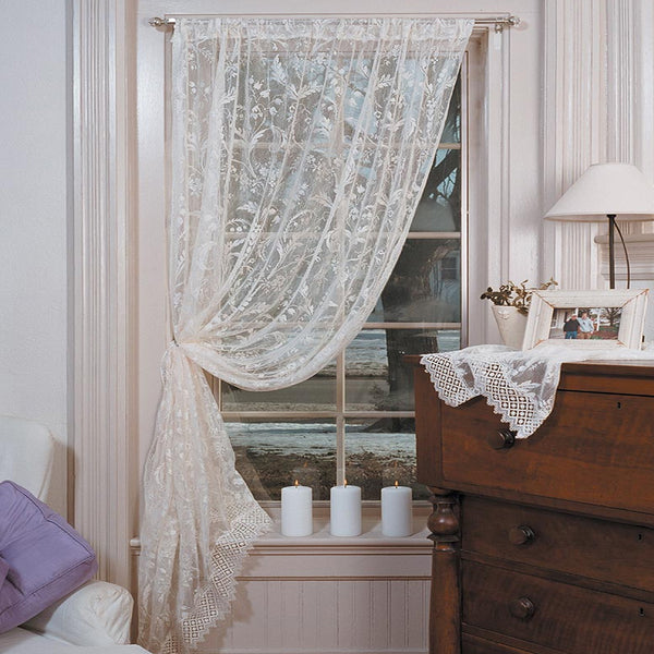 Coventry Lace Panel with Macrame-Trim Heritage Lace