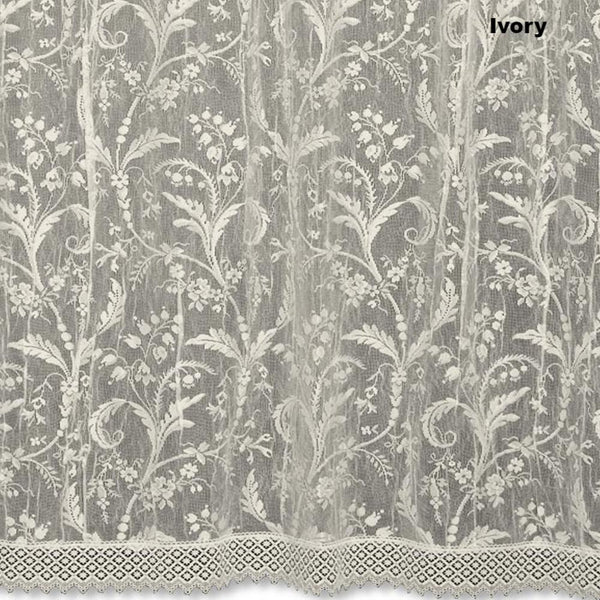 Coventry Lace Panel with Macrame-Trim Heritage Lace Ivory