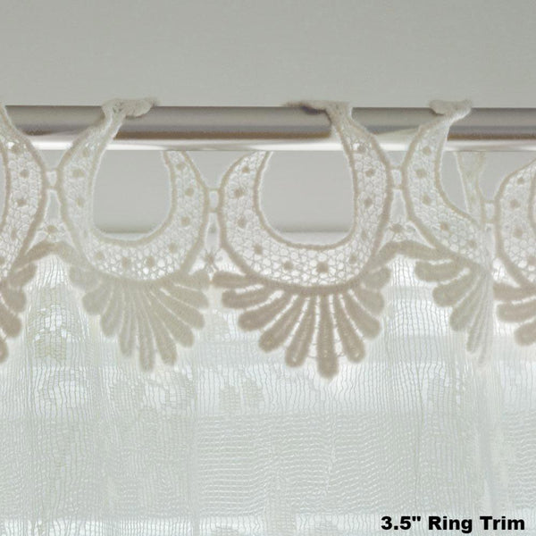 Coventry Lace Panel With Rings- Heritage Lace
