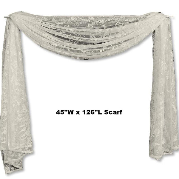 Coventry Lace Scarf Heritage Lace Ivory