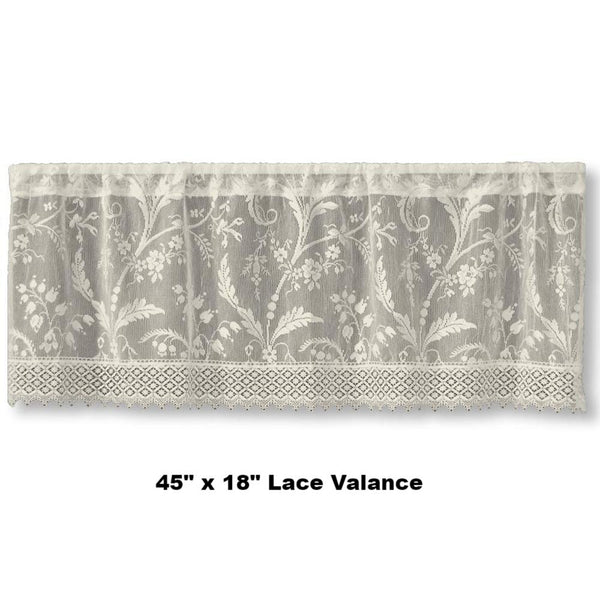 Coventry Lace Panel Valance Heritage Lace Ivory