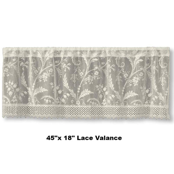 Coventry Lace Valance with Macrame-Trim Heritage Lace
