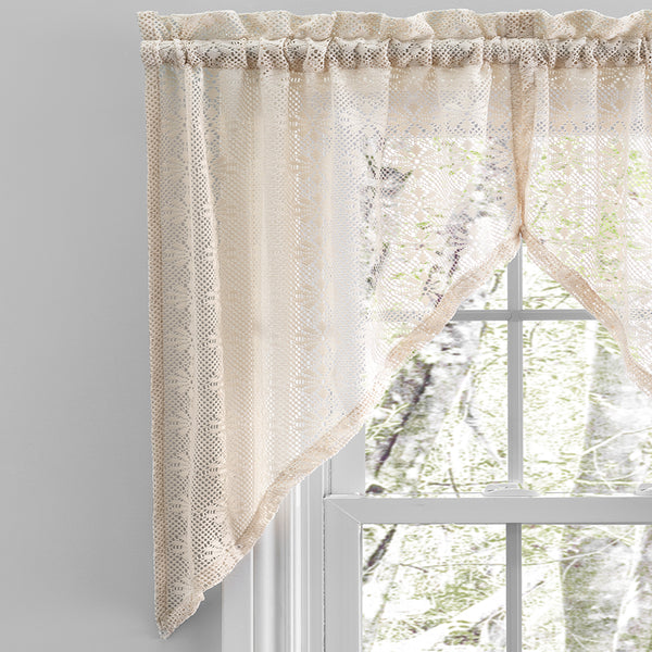 Crochet Lace Kitchen Tiers, Swag and Valance