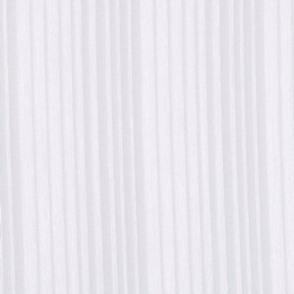 Closeup shot of Custom Stripe Voile Sheer By The Foot white fabric