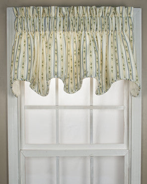 Cynthia Stripe Scalloped Valance