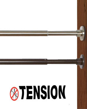 DUO Indoor & Outdoor Extra Wide Stainless-Steel Tension Curtain Rod