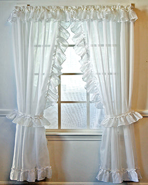 Jessica Sheer Priscilla Panel Pair with Attached Valance