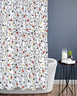 Deck The Halls Fabric Shower Curtain