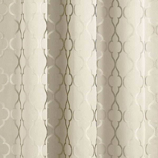 Closeup of Ivory Denise Thermal Lined Rod Pocket Panel fabric