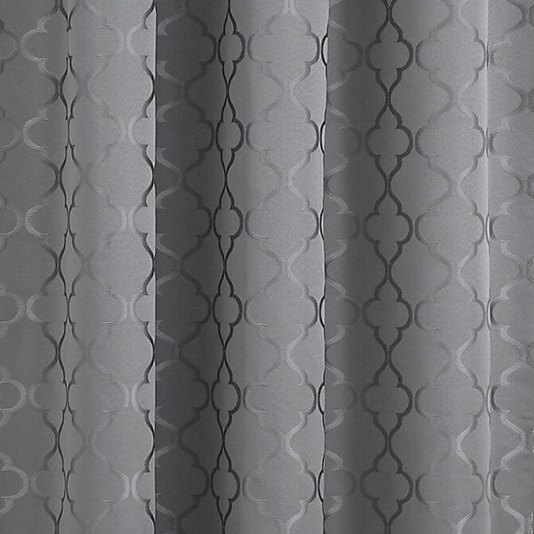 Closeup of Grey Denise Blackout Valance fabric