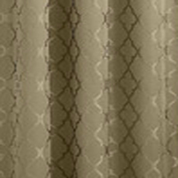 Closeup of Taupe Denise Blackout Valance fabric