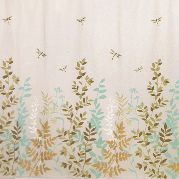 Closeup of Dragonfly Peva Vinyl Shower Curtain