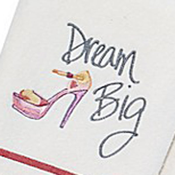 Close up shot of White Dream Big Fabric Shower Curtain Towel Set hand towel