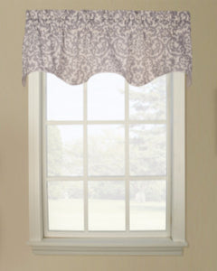 Duncan Duchess Filler Valance hanging on a curtain rod