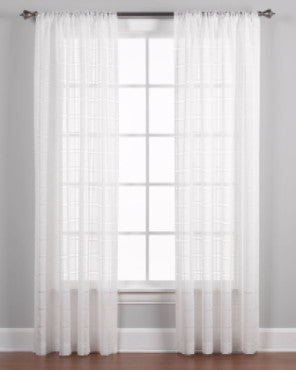 Easton Semi Sheer Panel Pairs and Valance