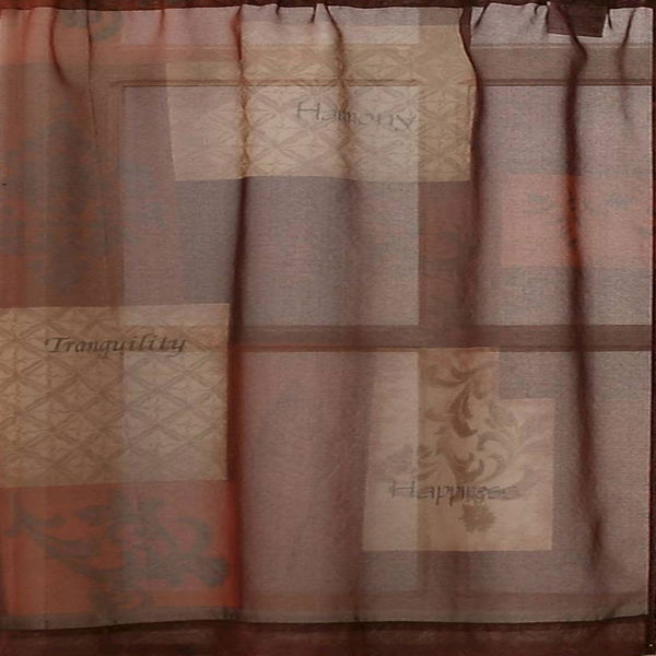 Closeup of Multi Eden Sheer Kitchen Valance, Swags, and Tier Curtains fabric