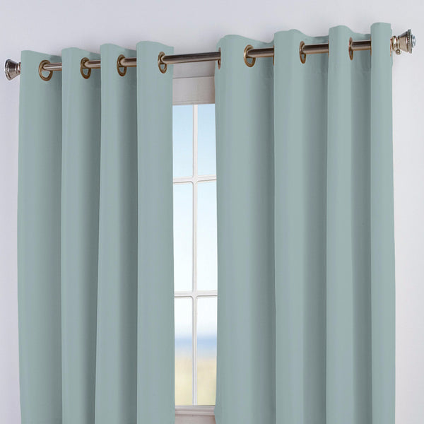 Closeup of Aqua Elegance Insulated Grommet Top Panels