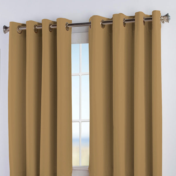 Closeup of Cafe Au Lait Elegance Insulated Grommet Top Panels