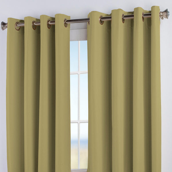 Closeup of Celadon Elegance Insulated Grommet Top Panels
