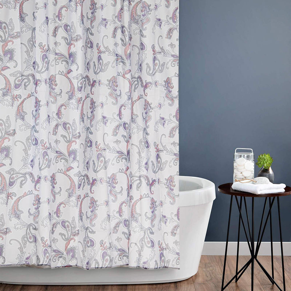 Emma Paisley Fabric Shower Curtain