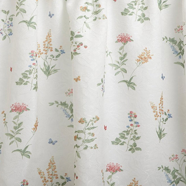 Multi English Garden Kitchen Valance and Tier Curtains