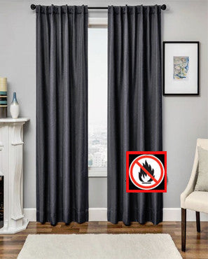 Euro Linen Flame Retardant Back Tab Panel