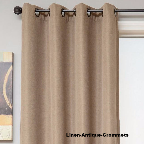 Euro-Linen-Flame-Retardant-Grommet-Top-Panel-Linen-Antique-Grommets-Zoom