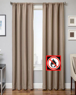 Euro Linen Flame Retardant Rod Pocket Panel