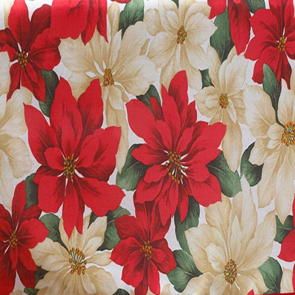 Closeup of Multi Euro Seasonal Floral Fabric Tablecloth fabric