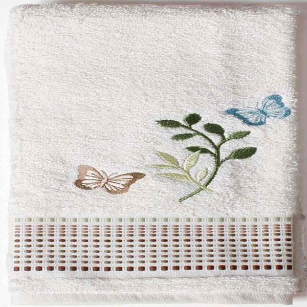 Linen Fluttering Fabric Shower Curtain Hand towel