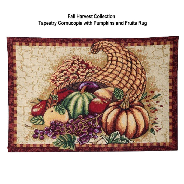 Fall-Collection-Tapestry-Rug-Cornucopia-with-Pumpkins-and-Fruits