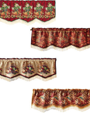 Fall Tapestry Scalloped Valances