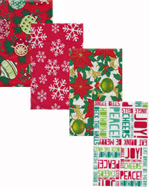 Lintex Linens Festive Holiday Non-Toxic Vinyl Table Cloth Collection