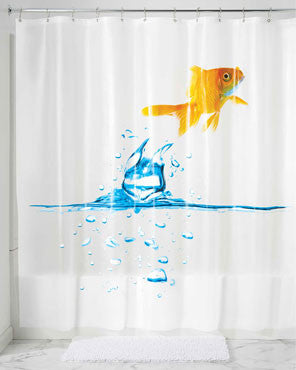 Finn Goldfish PEVA Vinyl Shower Curtain