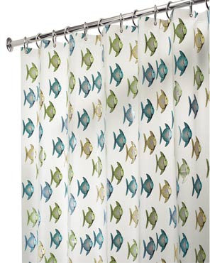 Fishy Eva Vinyl Shower Curtain