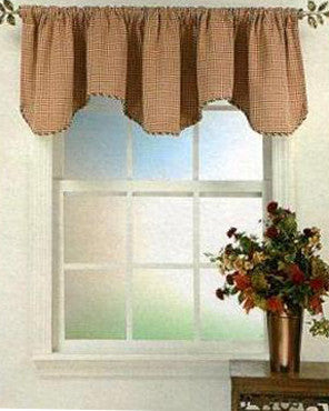 Fleetwood Valance hanging on a curtain rod