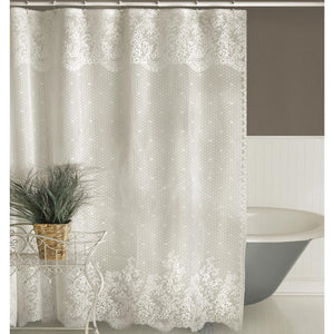Floret Lace Shower Curtain