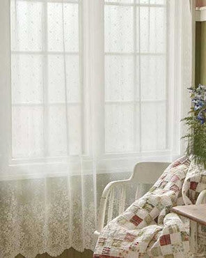Floret Lace Curtain and Valance