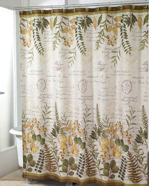 Foliage Garden Fabric Shower Curtain